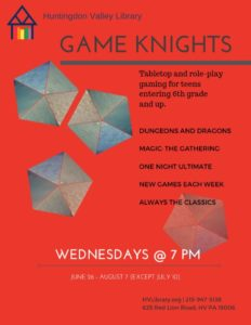 Game Knights flyer 2019