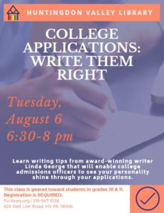 College Application Writing for Students Aug 2019
