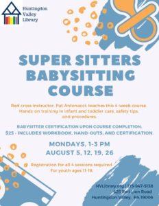Babysitting Course Aug 2019
