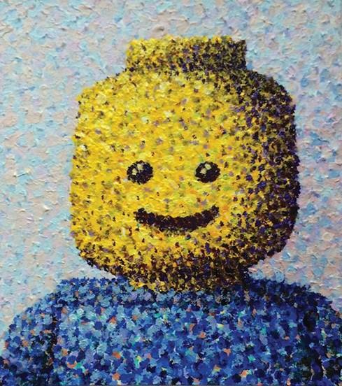 Art with Anita - LEGO Pointillism Face